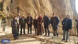Austrian ambassador visits tourist sites in western Iran
