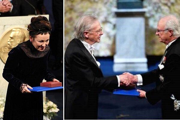 دو برنده نوبل ادبیات جوایزشان را دریافت کردند/ بایکوت رسمی ۷ کشور