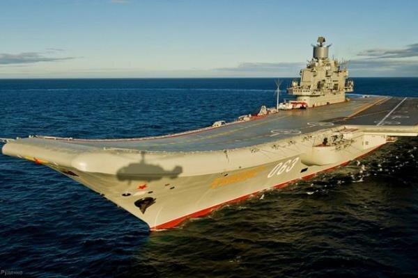 تنها ناو هواپیمابر روسیه دچار حریق شد