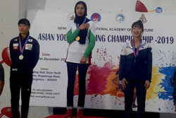 Darabian snatches three medals at Asian Youth Climbing C'ships