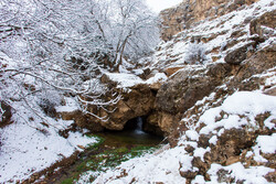 Snowy landscapes of Balanej in Urmia