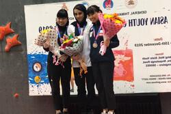 قهرمانی راحیل رمضانی در مسابقات سنگنوردی قهرمانی آسیا