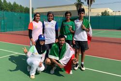 درخشش تنیس بازان زیر ۱۳ سال ایران در غرب آسیا