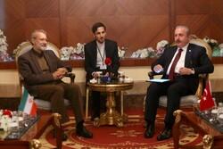 علی لاریجانی کی ترکی کی پارلیمنٹ کے اسپیکر سے ملاقات