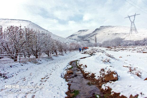 طبیعت برفی روستای بالانج ارومیه