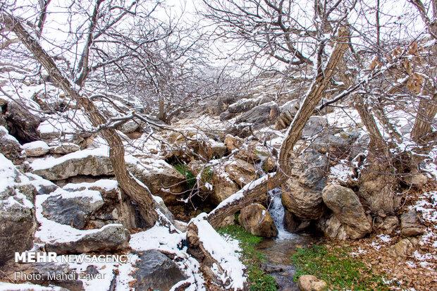 Snowy landscapes of Balanej in Urmia