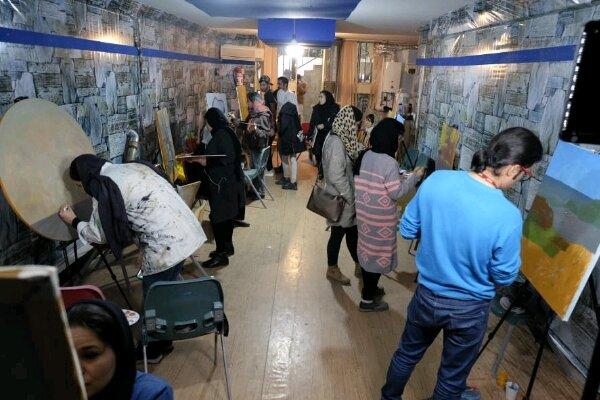 کارگاه دو روزه نقاشی در شهر یاسوج برگزار شد