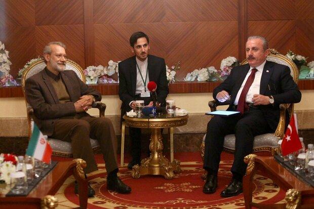 لاریجانی با رئیس مجلس ترکیه دیدار کرد