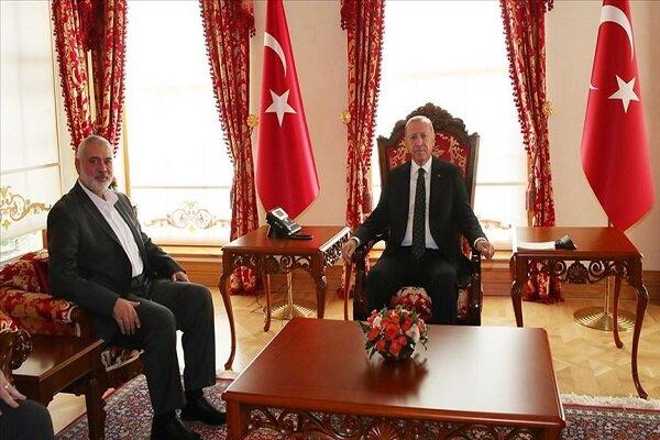 ترک صدر اردوغان اور حماس کے رہنما ہنیہ کی ملاقات