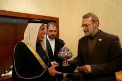 لاريجاني وبن عبدالله يؤكدان على تنمية العلاقات بين ايران وقطر