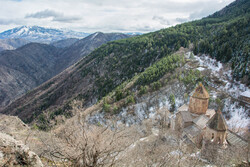 The remote Saphara monastery near Akhaltsikhe, Georgia.