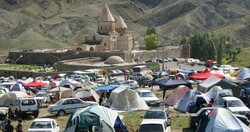 File photo depicts people visiting the Monastery of Saint Thaddeus in northwestern Iran.