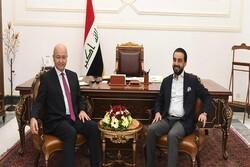 الرئيس العراقي يطلب من الحلبوسي اعلامه بالكتلة النيابية الاكثر عددا