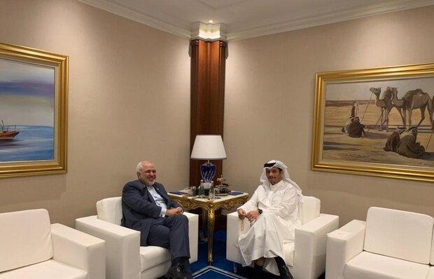 Iran, Qatar FMs meet in Doha