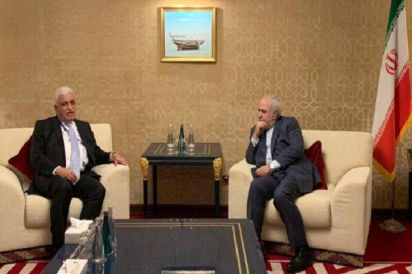Zarif meets Hashd al-Shaabi's Fayyadh in Baghdad