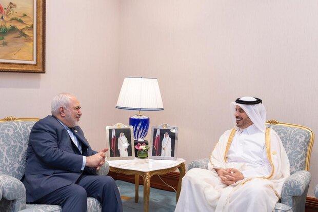 Zarif, Qatari PM discuss bilateral, international issues