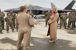 إيفانكا ترامب تتفقد قاعدة العديد الأمريكية في قطر