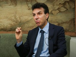 Rome's ambassador to Tehran Giuseppe Perrone speaks in an undated photo