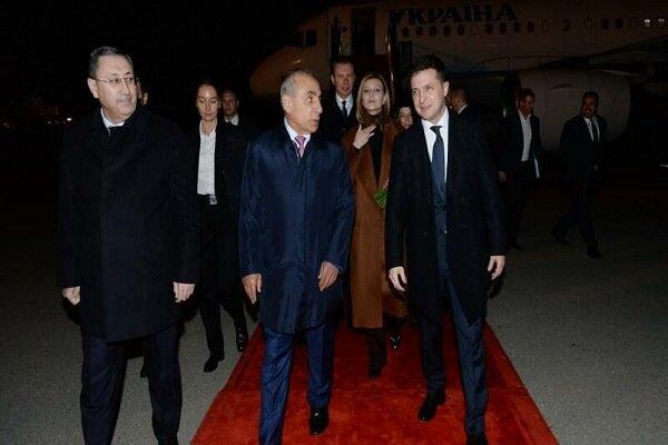Ukrayna Cumhurbaşkanı Bakü'de