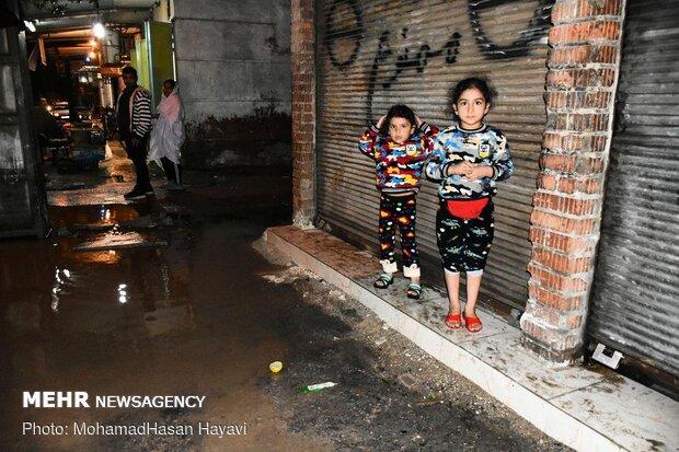 آبگرفتگی معابر و سیلاب در آبادان