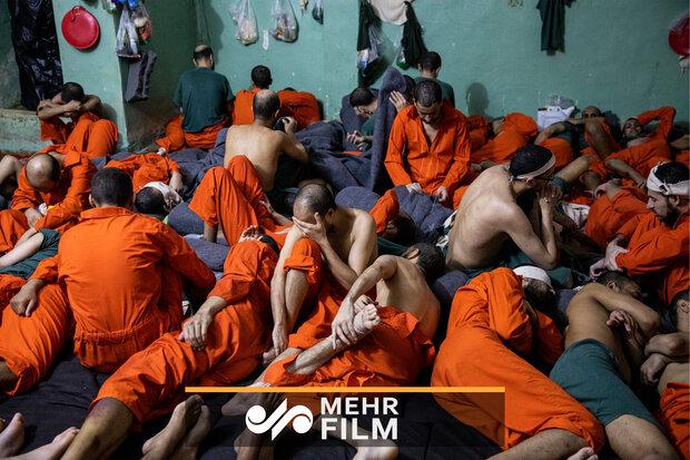 تصاویری از زندان داعشیها در سوریه