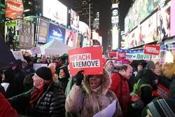 برگزاری تظاهرات ضد ترامپ در آستانه استیضاح پرزیدنت
