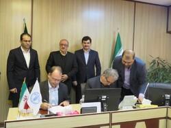 Gerold Bödeker, FAO Representative to Iran (L), and Deputy Agriculture Minister, Alimorad Akbari.