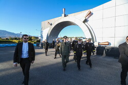 Defense minister's visit to naval university in northern Iran