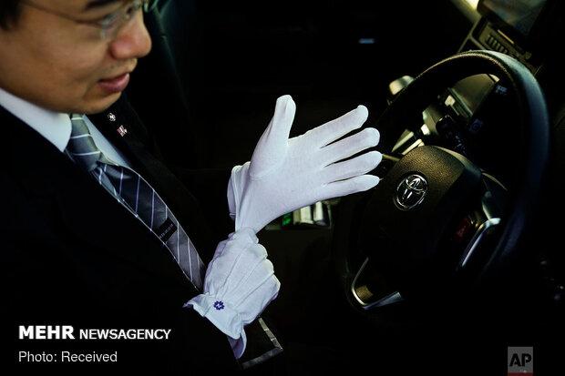 پوشش رانندگان تاکسی در توکیو