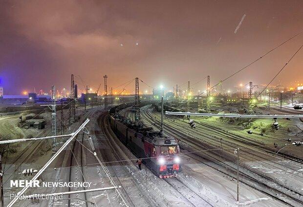 طولانی ترین شب سال در شهر مورمانسک روسیه