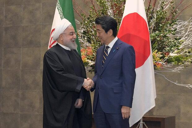 جاپان کے وزیر اعظم کی طرف سے ایرانی صدر کا شاندار استقبال