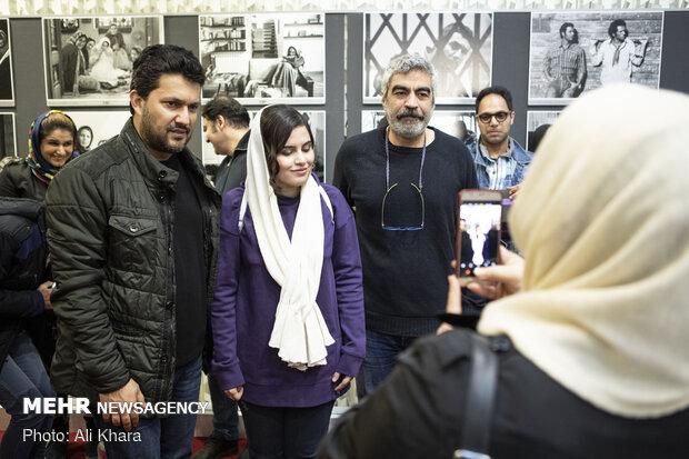حامد بهداد و سروش صحت در حاشیه اکران فیلم سینمایی «جهان با من برقص» ویژه نابینایان