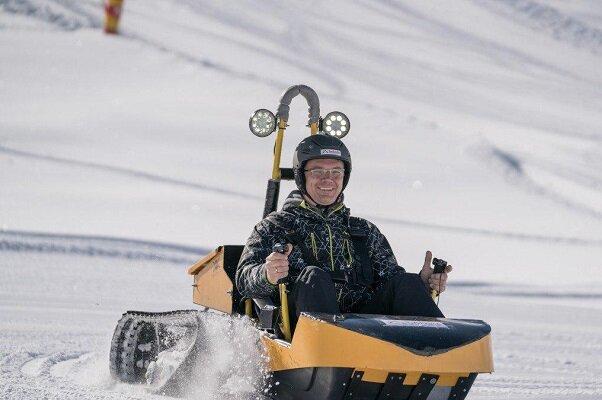 برف نورد برقی هم از راه رسید