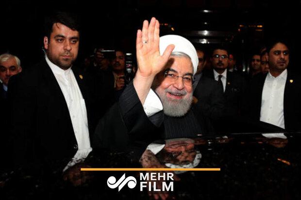 صدر حسن روحانی کا وطن واپسی پر استقبال