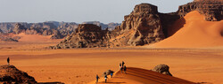 Foreign travelers tour Iran's UNESCO-registered Lut Desert.