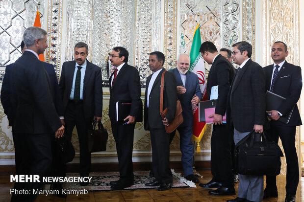 دیدار وزرای امور خارجه ایران و هند