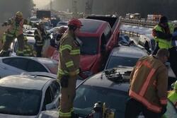 برخورد ۶۹ دستگاه خودرو در ویرجینیا آمریکا /دهها تن زخمی شدند