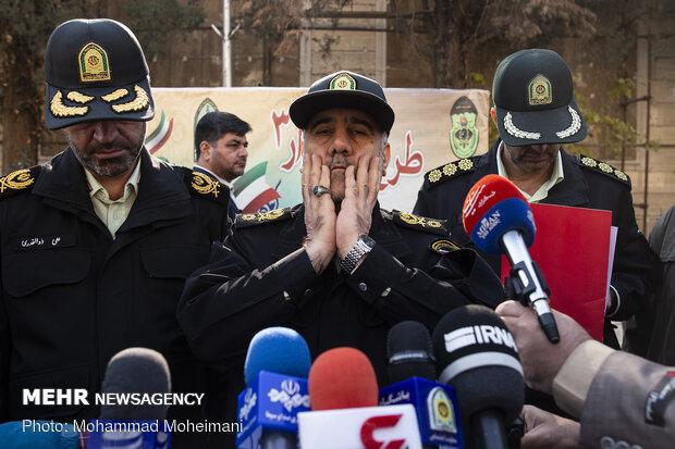 تہران کے مختلف محلوں سے 424 شرپسندوں کو گرفتار کرلیا گیا