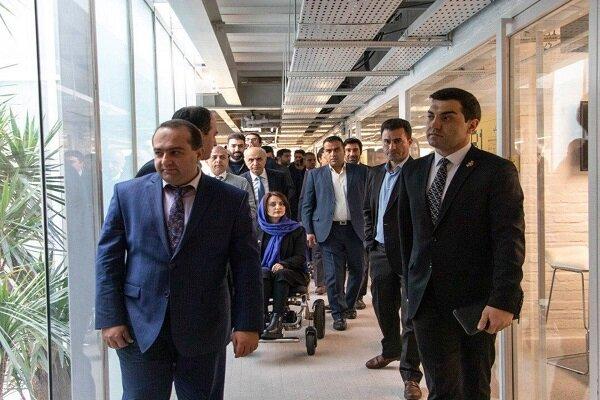 بازدید وزیر کار ارمنستان از ساختمان روز اول علیبابا