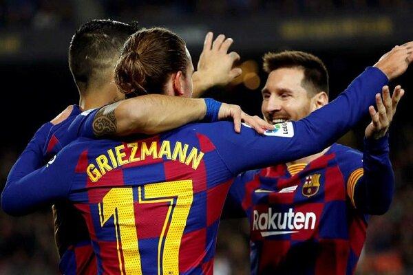 خط حمله بارسلونا قویتر از کل تیمهای لالیگا