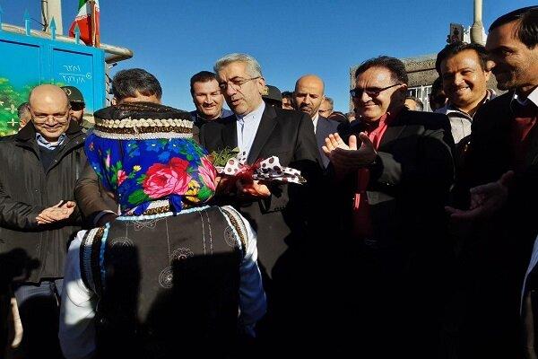 افتتاح پروژه های آبرسانی به روستاهای شهرستان خوشاب توسط وزیر نیرو