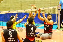 مسابقات والیبال نشسته جانبازان و معلولان در اردبیل