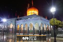 حضرت زینب (س) کے روضہ مبارک کے صحن میں بارش کا شاندار منظر