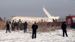 Kazakistan'daki uçak kazasından fotoğraflar
