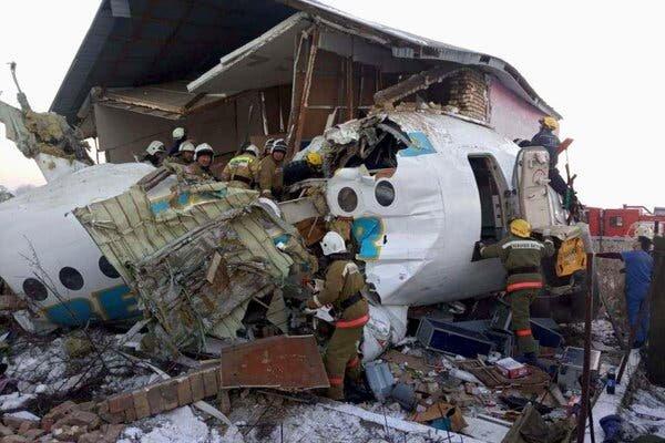 Plane carrying 100 passengers crashes in Kazakhstan