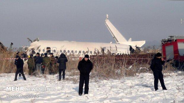 سقوط هواپیمای مسافربری در قزاقستان