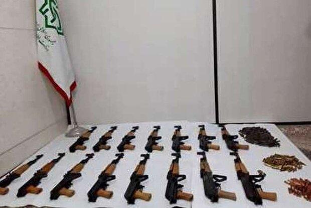 کشف محموله اسلحه و مهمات جنگی در جوانرود