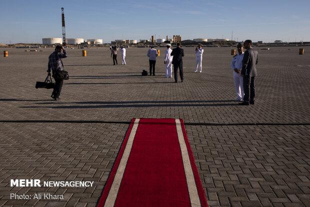 در حاشیه ورود ناوهای روسیه و چین به اسکله شهید بهشتی بندر چابهار
