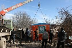 ارسال سرپناه موقت به روستاهای زلزلهزده میانه