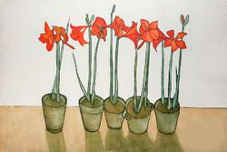 """Vases"" Iranian painter Parvaneh Etemadi."
